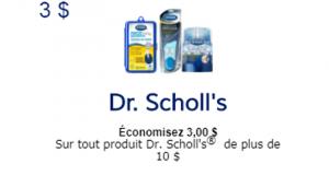 Coupon rabais de 3$ sur les produits Dr. Scholl's