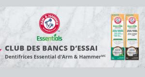 Essayez le nouveau dentifrice Arm & Hammer Essentials