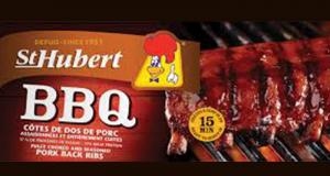 Rabais de 3$ sur Côtes levées de dos surgelées St-Hubert