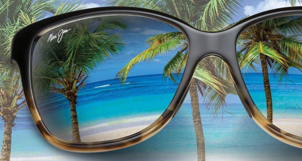 Une paire de lunettes solaires Maui Jim