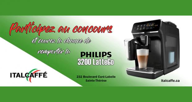 Gagnez Une machine à café Philips 3200 LatteGo