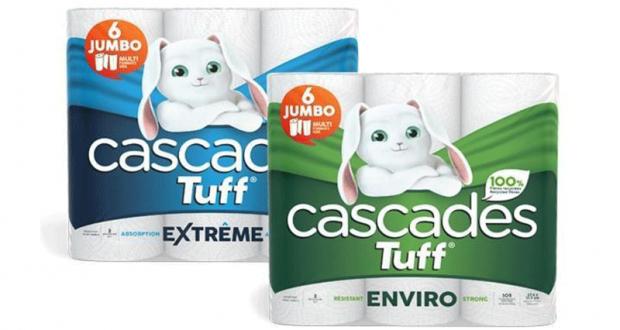 Coupon de 1$ sur les produits Cascades Tuff (6 rouleaux)