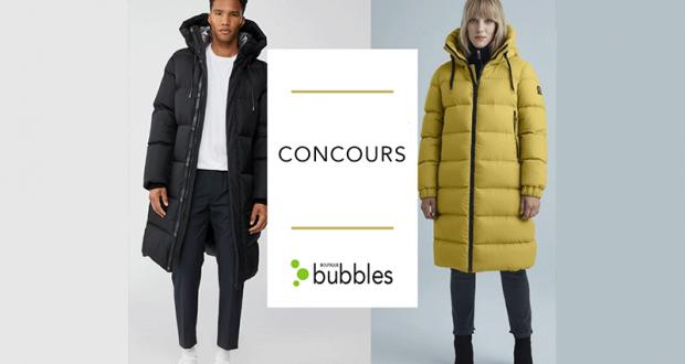 Gagnez un manteau d'hiver offert par Boutique bubbles