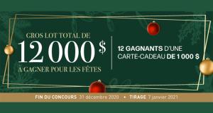 Gagnez 12 cartes-cadeau Linen Chest de 1000$ chacune