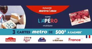 Gagnez 3 cartes-cadeaux Metro de 500$ chacune