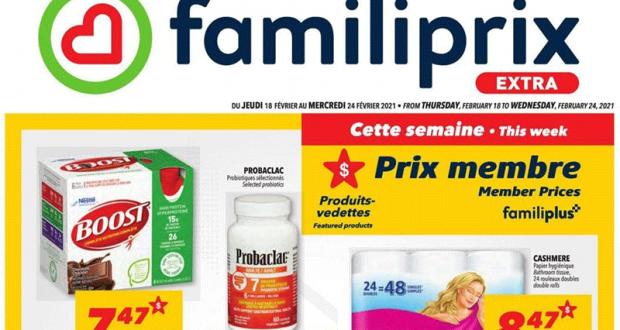 Circulaire Familiprix du 18 février au 24 février 2021