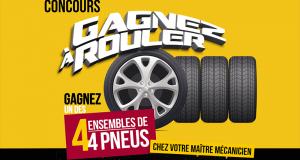 Gagnez 4 ensembles de pneus de votre choix
