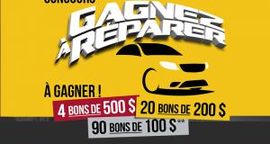 Gagnez 6900 $ en bons-réparation AutoPLACE