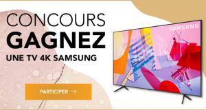"""Gagnez une TV 4k 55"""" SAMSUNG d'une valeur de 1000 $"""