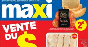 Circulaire Maxi du 11 mars au 17 mars 2021