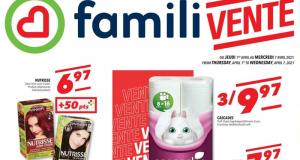 Circulaire Familiprix du 1 avril au 7 avril 2021
