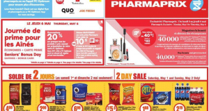 Circulaire Pharmaprix du 1er mai au 6 mai 2021