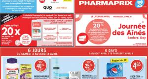 Circulaire Pharmaprix du 3 avril au 8 avril 2021