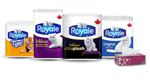 Emballage de 12 rouleaux de papier hygiénique Royale Velour à 2.88$