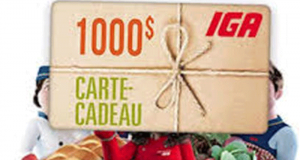 Gagnez 33 cartes-cadeaux IGA allant jusqu'à 1000$