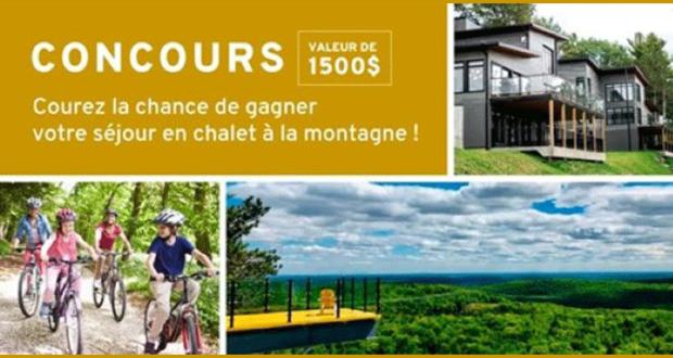 Gagnez un séjour à l'Auberge de la Montagne Coupée (1500 $)