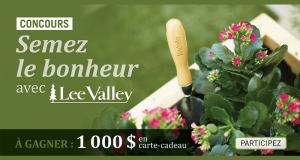 Gagnez une carte-cadeau Lee Valley de 1000 $