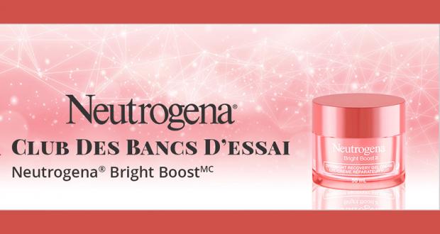 Testez le Gel Crème Réparateur Neutrogena Bright Boost