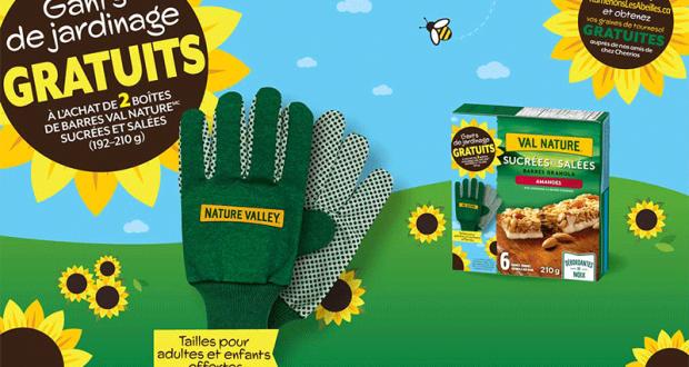 Une paire de gants de jardinage gratuite