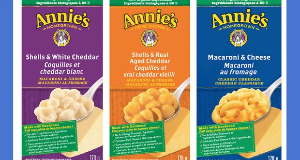 Échantillons gratuits du Macaroni au fromage Annie's