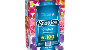 Emballage de 6 boîtes de papiers-mouchoirs Scotties à 3.33$