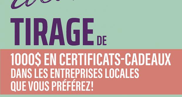 Gagnez 10 certificats-cadeaux de 100 $ dans l'entreprise de votre choix