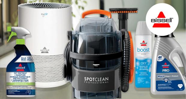 Gagnez un ensemble pour le nettoyage professionnel de chez Bissel