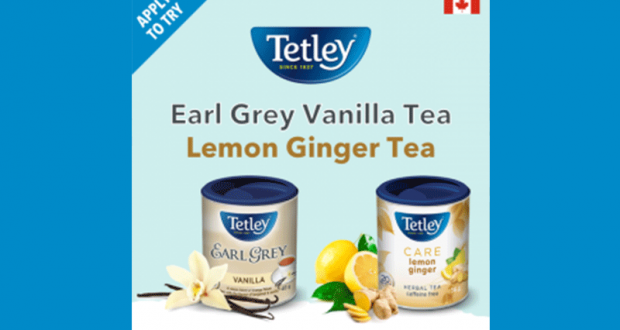 Infusions Tetley à tester gratuitement
