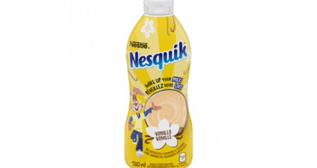 Sirop à la vanille de Nesquik à recevoir gratuitement chez vous