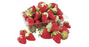 Un paquet de fraises 1 lb à 1.67$ au lieu de 4.97$