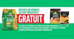 Un produit All-Day Breakfast GRATUIT