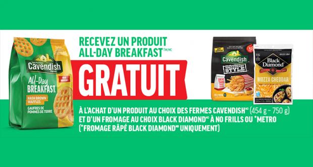 Un produit All-Day Breakfast GRATUIT