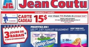Circulaire Jean Coutu du 1 juillet au 7 juillet 2021