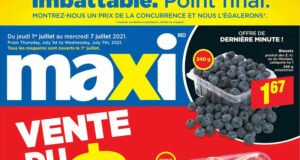 Circulaire Maxi du 1 juillet au 7 juillet 2021