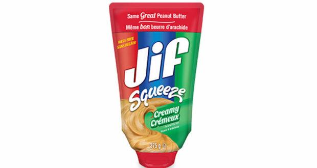 Coupon de 1$ a l'achat d'un produit Jif Squeeze 375g