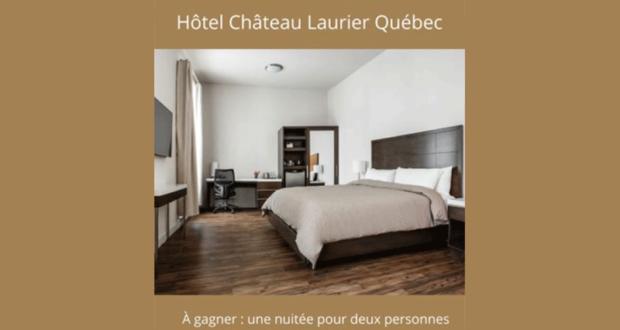 Gagnez un forfait nuitée pour 2 à l'Hôtel Château Laurier Québec