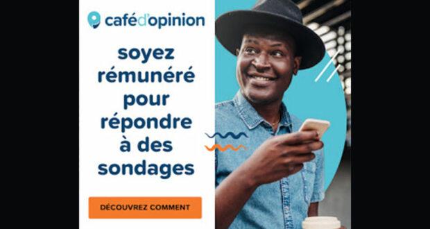 Répondez à des sondages payants en français avec Café d'Opinion