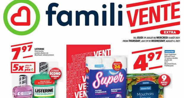 Circulaire Familiprix du 29 juillet au 4 août 2021