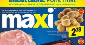Circulaire Maxi du 15 juillet au 21 juillet 2021