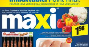 Circulaire Maxi du 22 juillet au 28 juillet 2021