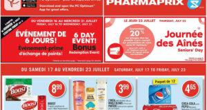 Circulaire Pharmaprix du 17 juillet au 23 juillet 2021