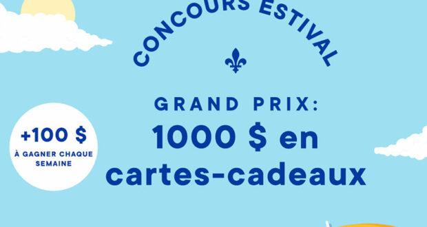 Gagnez 1000 $ à dépenser dans des commerces québécois