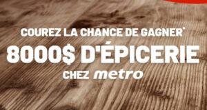 Gagnez 8000 $ d'épicerie Metro