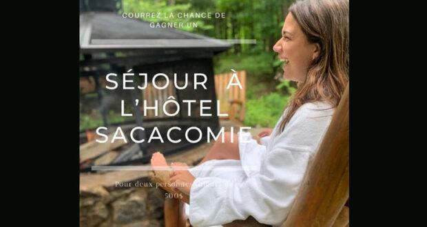 Gagnez un séjour pour deux personnes à l'Hotel Sacacomie
