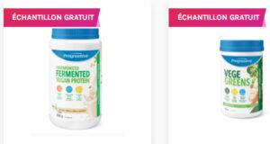 Échantillons gratuits de Protéines Végétales en Poudre