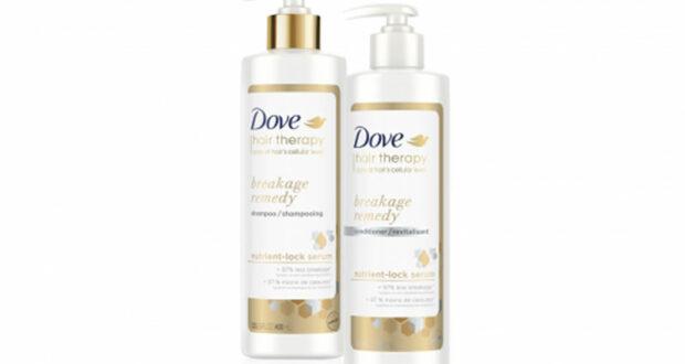 Échantillons gratuits de shampoing et revitalisant Dove Hair Therapy