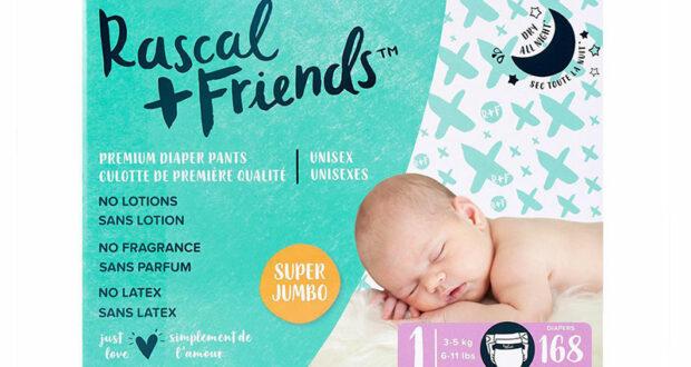 Échantillons gratuits des couches pour bébé Rascal + Friends