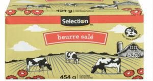 Beurre Selection 454g à 3.33$