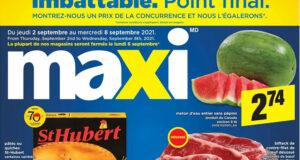 Circulaire Maxi du 2 septembre au 8 septembre 2021