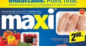Circulaire Maxi du 26 août au 1 septembre 2021